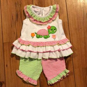 Bonnie Baby seersucker pant outfit